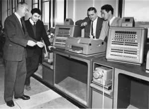 One of a series of photos most dated to 15 september 1964 and believed to mark the relocation of rthe UK ATC developed Apollo Computer used by Shanwick Oceanic Control
