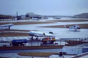 EGPB 6.1.93 Busy terminal Oil pollution DC3s and Rescue 117 SK61