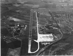 EGPK aerial view of airport on a busy day