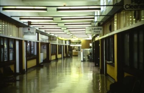 Inside the old Liverpool Airport terminal.