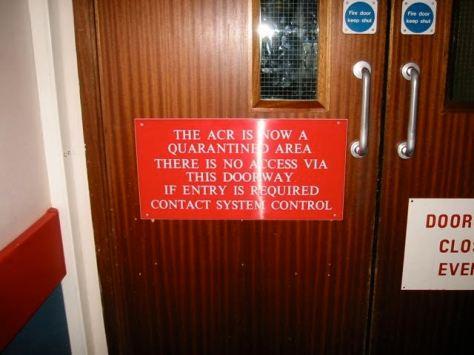 Ops room entrance