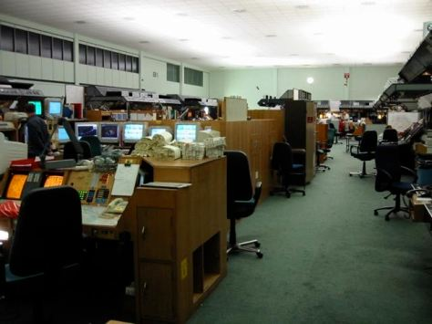 Ops room view from military supervisors position (right hand of supervisors desk)