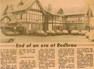 Redbrae House - the end
