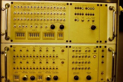 the target generator part of the plot extractors test equipment cabinet