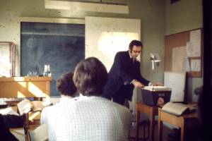 typical classroom in 1970s