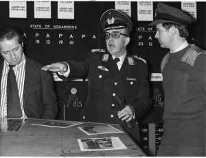 visitor is the head of the German Airforce, Oberst F.-W. von Schlichtkrull