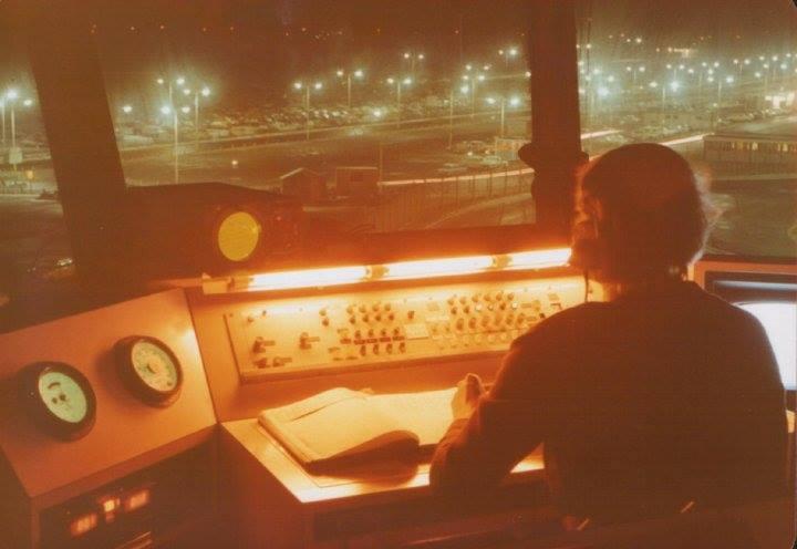 Aerodrome Control 1970s (Windows Misting up Runway hidden by streetlighting!!)