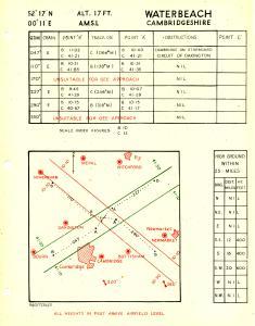 Approach Chart Waterbeach Gee c1946
