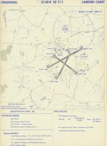 Landing Chart RAF Stradishall Oct 1952