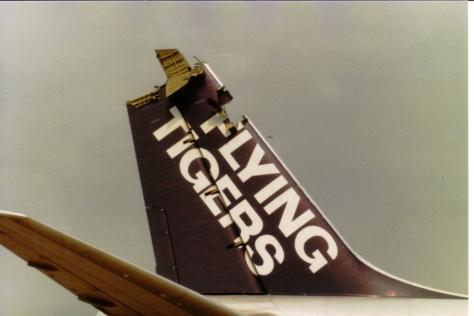 Flying Tigers DC86 N786FT after DC85 RP-C830 Collided with it 05-Sep-1982