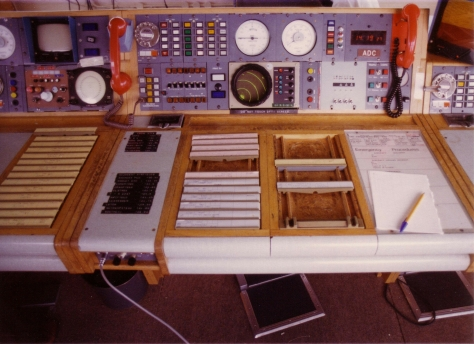 Stansted ADC desk 1980s