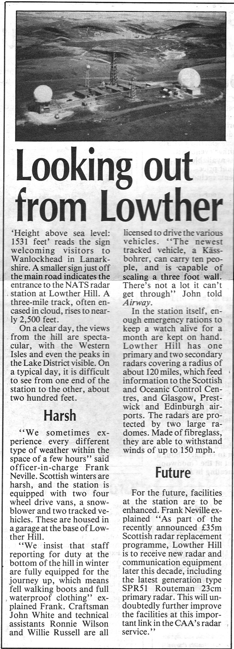 LOWTHER HILL ARTICLE