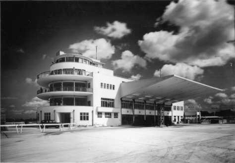 Elmdon tower and terminal newly completed 1939