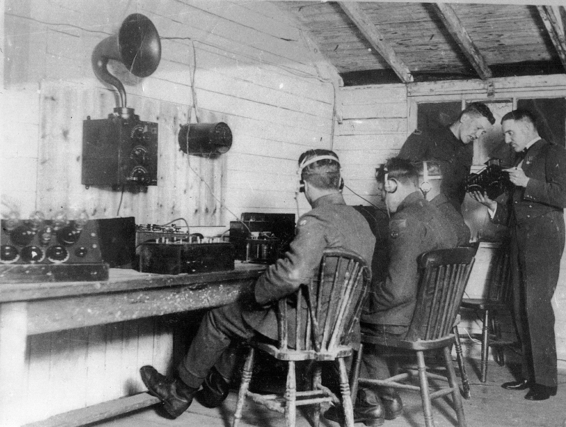 Wireless shack at Cranwell 1920ish