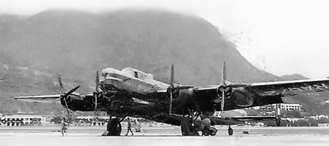 RAF Kai Tak Lincoln RA672