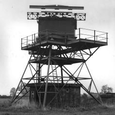 RAF Sopley SSR on former Type 14 gantry synchconised with the civil 264 radar