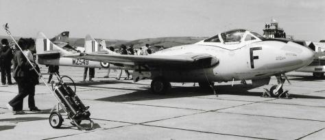 Chivenor 1969 Vampire T11 WZ549 from the CATCS